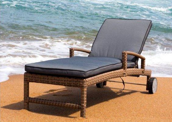 All weather outdoor lounger