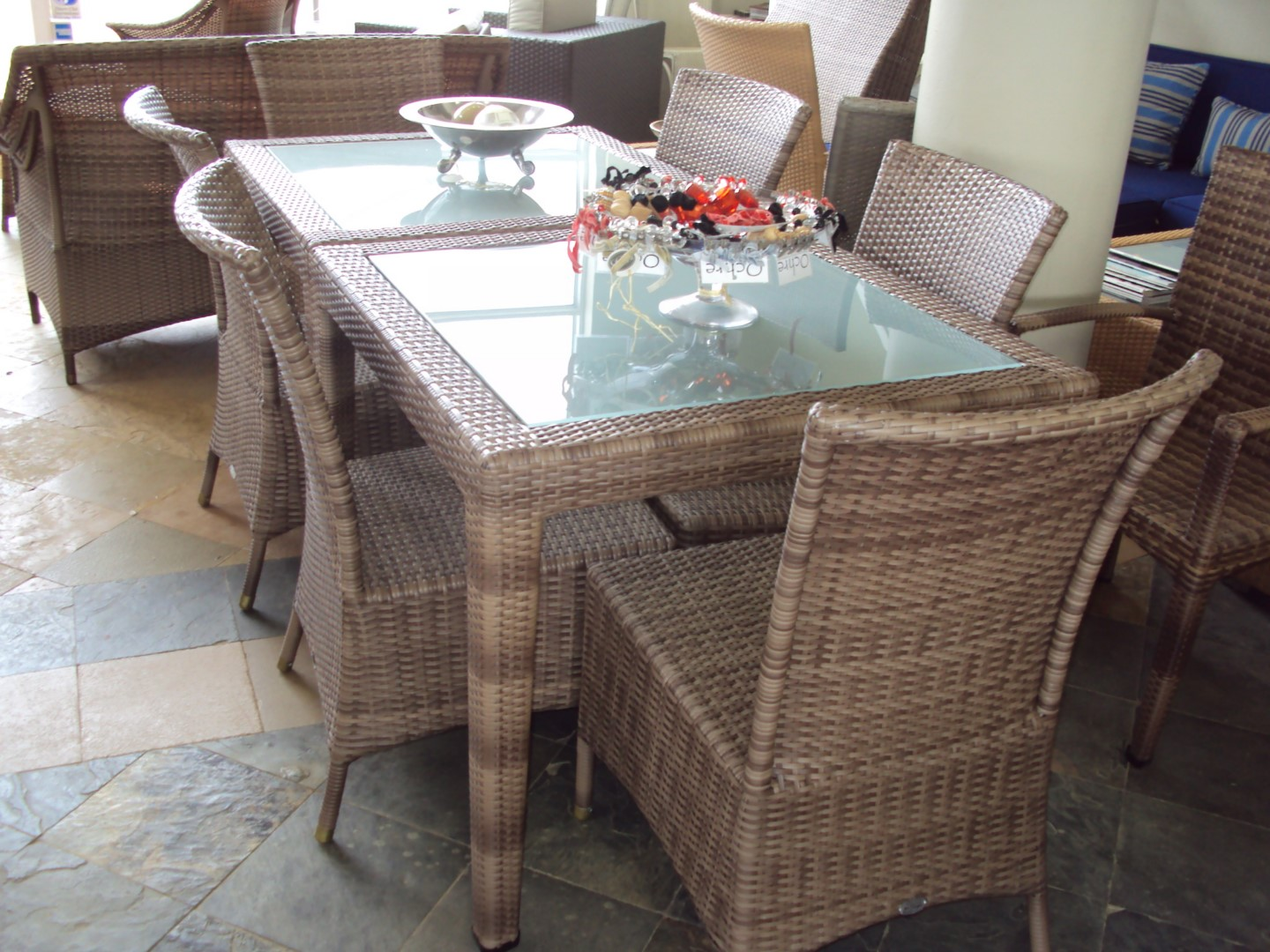 Malindi 4 seater dinning tables with toughened glass inlay