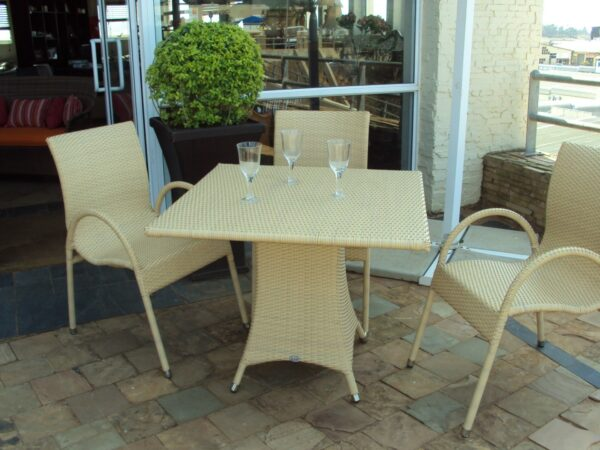 Fully weaved Ashanti four seater dinning table