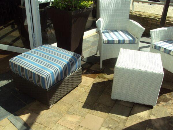 Designer patio set.