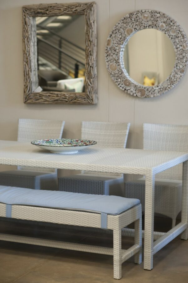 Luxury all weather outdoor Refrectory Dining Table And Benches.