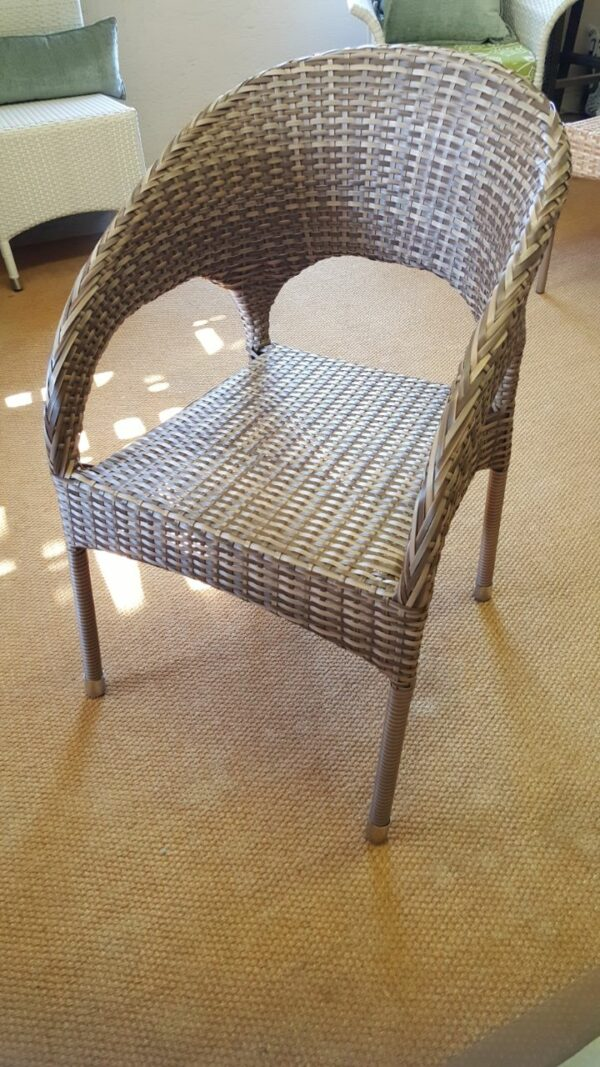 Double weaved Mediterranean chairs in coffee cream.