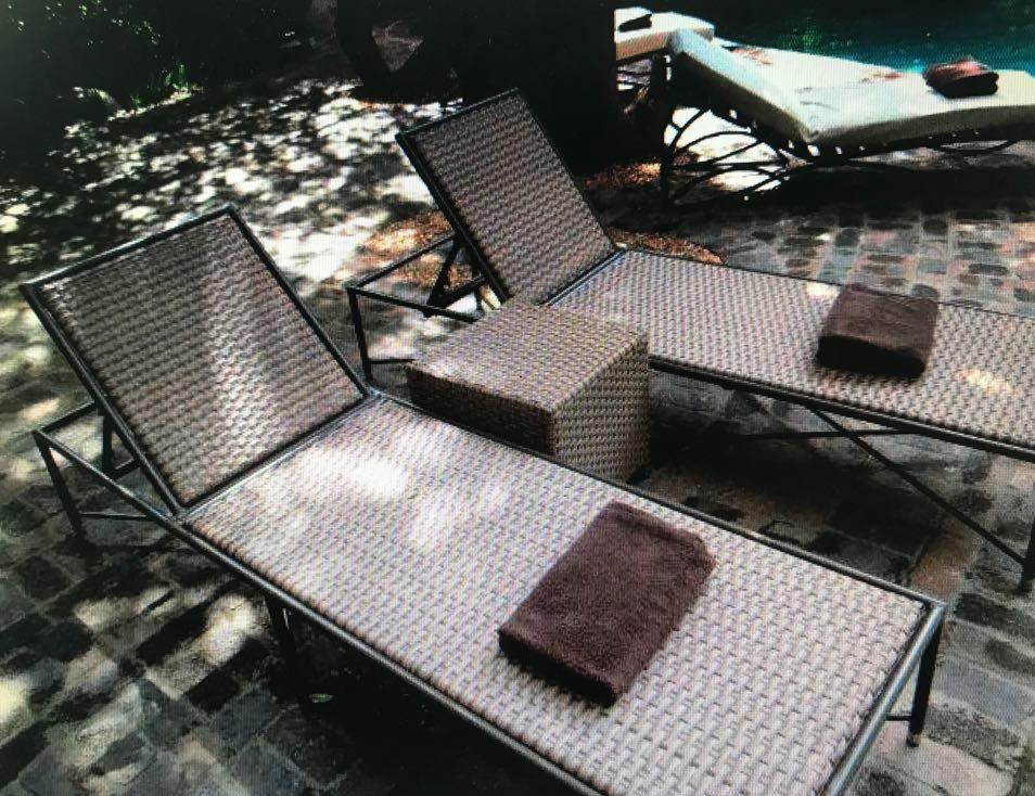 Tambuti pool lounger in coffee cream.